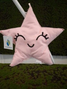 Estrela Color Rosa em Feltro G - 01 unidade - Pé de Pano - Rizzo Embalagens