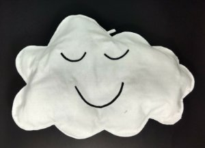 Nuvem Decorativa  Branca em Feltro P - 01 unidade - Pé de Pano - Rizzo Embalagens