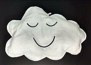 Nuvem Decorativa  Branca em Feltro M - 01 unidade - Pé de Pano - Rizzo Embalagens