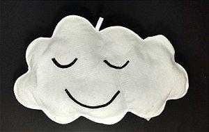 Nuvem Decorativa  Branca em Feltro G - 01 unidade - Pé de Pano - Rizzo Embalagens