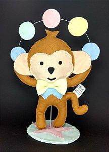 Macaco Circo Rosa em Feltro - 01 Unidade - Pé de Pano - Rizzo Festas