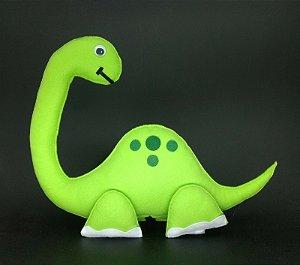 Dinossauro Verde em Feltro - 01 Unidade - Pé de Pano - Rizzo Festas