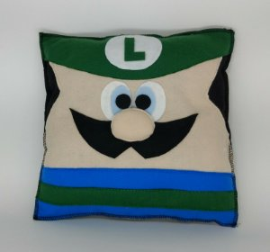 Almofada Luigi  em Feltro - 01 Unidade - Pé de Pano - Rizzo Festas