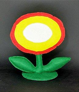Flor do Fogo Mario em Feltro - 01 Unidade - Pé de Pano - Rizzo Festas