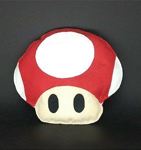 Cogumelo Vermelho Mario em Feltro - 01 Unidade - Pé de Pano - Rizzo Festas