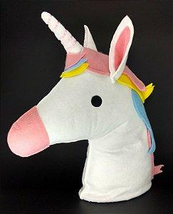 Unicornio Cabeça Media em Feltro - 01 Unidade - Pé de Pano - Rizzo Festas