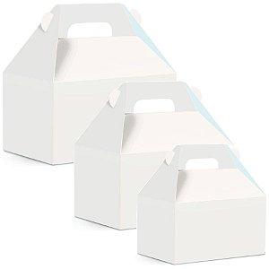 Caixa Maleta Kids Branco Liso - 10 unidades - Cromus - Rizzo Embalagens