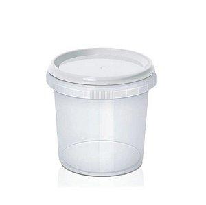 Pote Lacre Redondo com Tampa 220ml - 10 unidades - Plastilania - Rizzo Embalagens