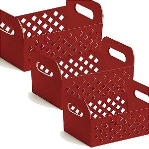 Caixote de Papel Cartão - Red - 01 unidade - Cromus - Rizzo Embalagens