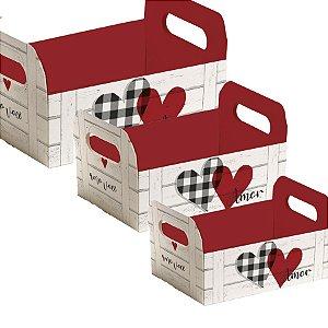 Caixote de Papel Cartão - Meu Amor - 01 unidade - Cromus - Rizzo Embalagens