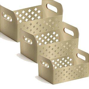 Caixote de Papel Cartão - Gold - 01 unidade - Cromus - Rizzo Embalagens