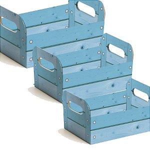 Caixote de Papel Cartão - Azul - 01 unidade - Cromus - Rizzo Embalagens