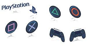 Decoração de Mesa Festa Playstation - 8 unidades - Festcolor - Rizzo Festas