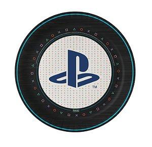 Prato Festa Playstation 18cm - 8 unidades - Festcolor - Rizzo Festas