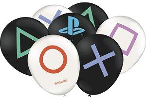 Balão Especial Festa Playstation - 25 unidades - Festcolor - Rizzo Festas