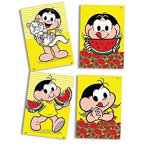 Quadros Decorativo Festas Festa Magali Melancia - 04 unidades - Festcolor - Rizzo Festas