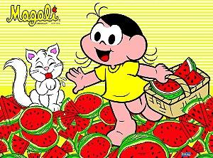 Painel Decorativo Festa TNT Festa Magali Melancia - 01 Unidade - Festcolor - Rizzo Festas