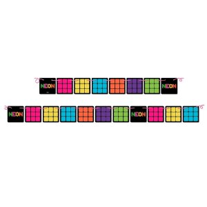 Faixa Decorativa Festa Neon - Festcolor - Rizzo Festas