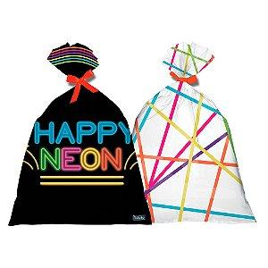 Sacola Surpresa Festa Neon - 8 unidades - Festcolor - Rizzo Festas