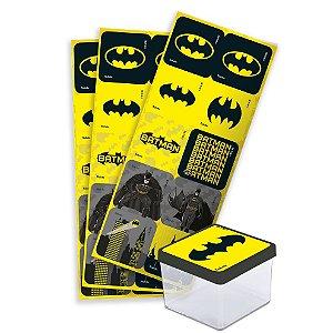 Adesivo Quadrado para Lembrancinha Festa Batman - 30 unidades - Festcolor - Rizzo Festas