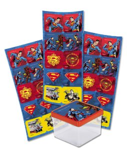 Adesivo Quadrado para Lembrancinha Festa Superman - 30 unidades - Festcolor - Rizzo Festas