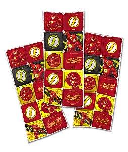 Adesivo Quadrado para Lembrancinha Festa Flash - 30 unidades - Festcolor - Rizzo Festas