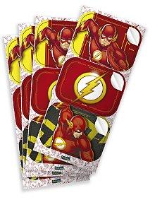 Adesivo Retangular Festa Flash - 12 unidades - Festcolor - Rizzo Festas