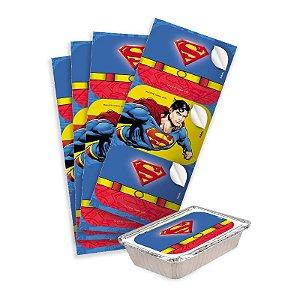 Adesivo Retangular Festa Superman - 12 unidades - Festcolor - Rizzo Festas