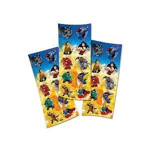 Adesivo Redondo para Lembrancinha Festa Liga da Justiça  - 30 unidades - Festcolor - Rizzo Festas