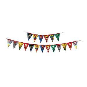 Faixa Decorativa Festa Liga da Justiça - Festcolor - Rizzo Festas