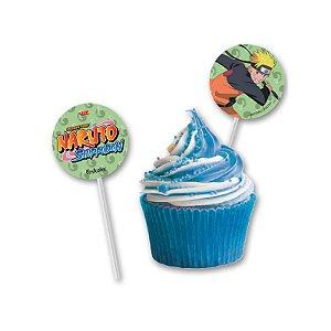 Topper Para Docinhos Festa Naruto - 8 unidades - Festcolor - Rizzo Festas