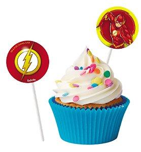 Topper Para Docinhos Festa Flash - 8 unidades - Festcolor - Rizzo Festas