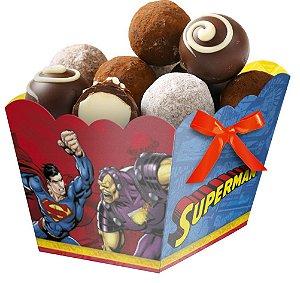 Cachepot Festa Superman - 08 unidades - Festcolor - Rizzo Festas