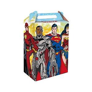 Caixa Surpresa Festa Liga da Justiça - 8 unidades - Festcolor - Rizzo Festas