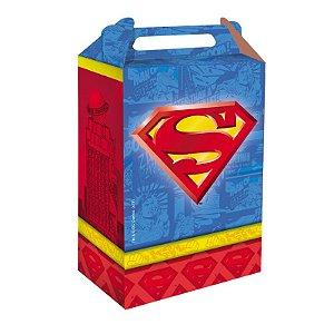 Caixa Surpresa Festa Superman - 8 unidades - Festcolor - Rizzo Festas