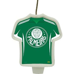 Vela Camisa Festa Palmeiras - 1 unidade - Festcolor - Rizzo Embalagens e Festas