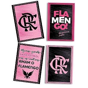 Quadros Decorativo Festas Festa Flamengo Rosa - 8 unidades - Festcolor - Rizzo Festas