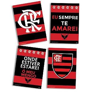 Quadros Decorativo Festas Festa Flamengo - 8 unidades - Festcolor - Rizzo Festas