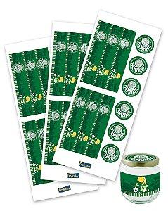 Adesivo para Lembrancinhas Festa Palmeiras - 36 unidades - Festcolor - Rizzo Festas