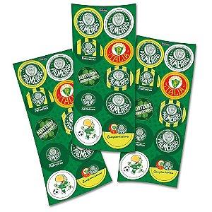 Adesivo Redondo para Lembrancinha Festa Palmeiras - 30 unidades - Festcolor - Rizzo Embalagens e Festas
