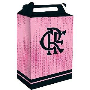 Caixa Surpresa Cubo Festa Flamengo Rosa - 8 unidades - Festcolor - Rizzo Embalagens