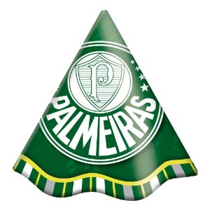 Chapéu Festa Palmeiras - 08 unidades - Festcolor - Rizzo Festas