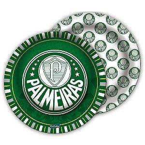 Prato Festa Palmeiras - 18cm - 8 unidades - Festcolor - Rizzo Festas