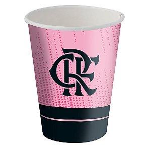 Copo de Papel 200ml Festa Flamengo Rosa - 08 unidades - Festcolor - Rizzo Festas