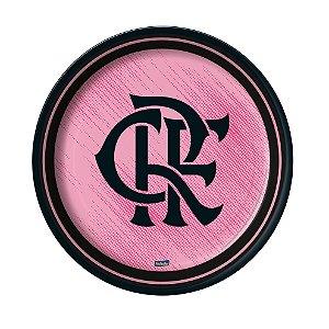 Prato Festa Flamengo Rosa - 18cm - 8 unidades - Festcolor - Rizzo Festas