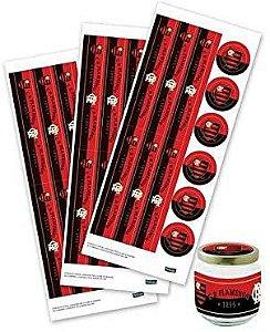 Adesivo para Lembrancinhas Festa Flamengo - 36 unidades - Festcolor - Rizzo Festas