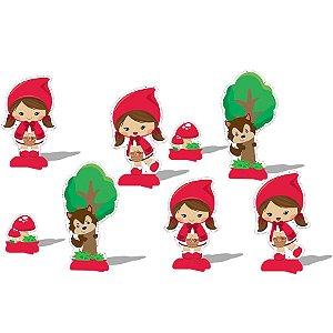 Decoração de Mesa Festa Chapeuzinho Vermelho - 8 unidades - Festcolor - Rizzo Festas