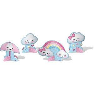 Decoração de Mesa Festa Chuva de Amor - 8 unidades - Festcolor - Rizzo Festas