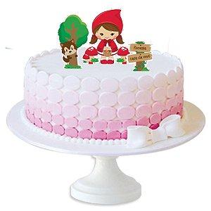 Topper p/ Bolo Festa Chapeuzinho Vermelho - 3 unidades - Festcolor - Rizzo Festas