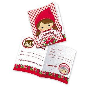 Convite Festa Chapeuzinho Vermelho- 8 unidades - Festcolor - Rizzo Festas